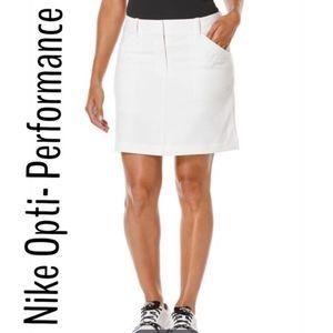 Nike   opti performance white dri fit golf skirt